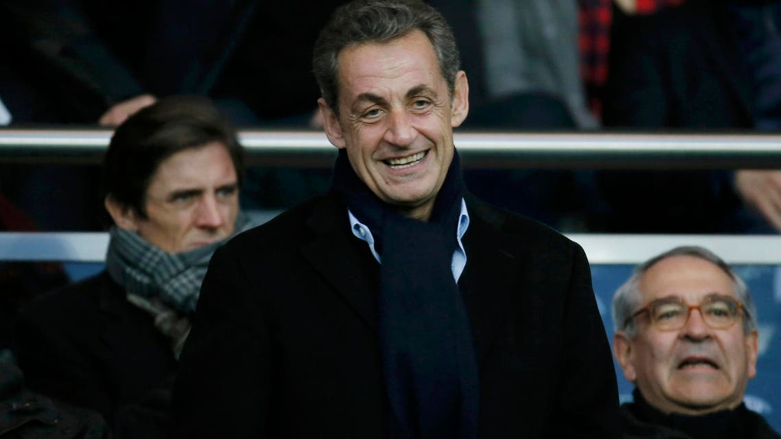 Former French president Nicolas Sarkozy attends the French Ligue 1 soccer match between Paris St Germain and Nice at the Parc des Princes Stadium in Paris November 29, 2014. (Reuters)