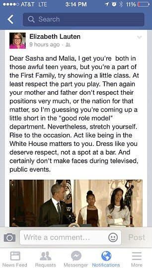 post obama girls facebook