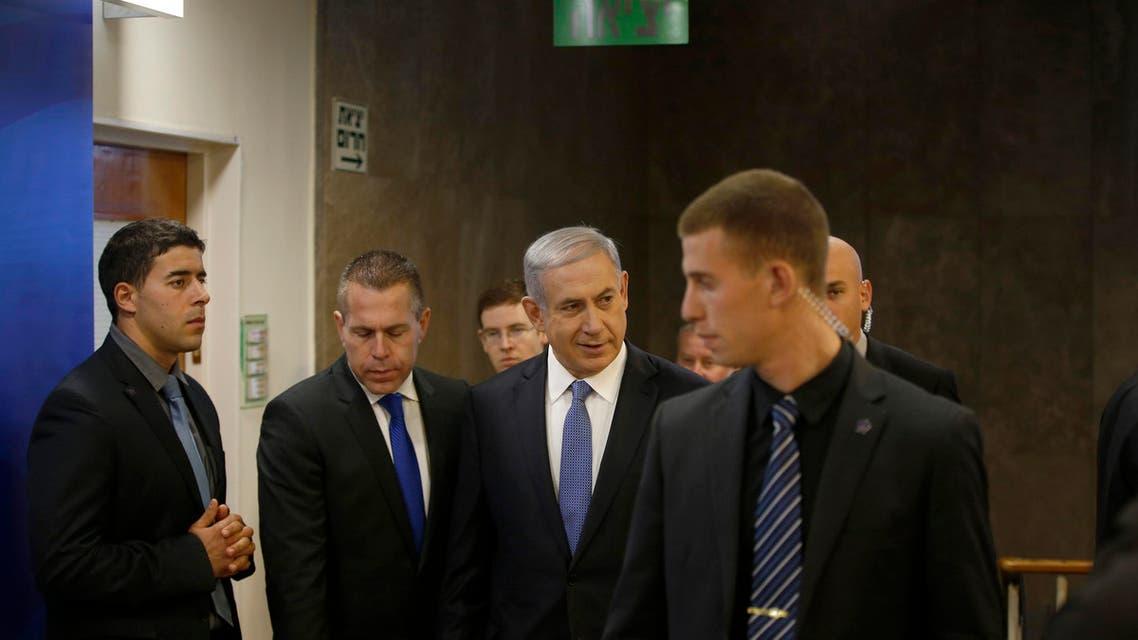 Israel's Prime Minister Benjamin Netanyahu (C) arrives to the weekly cabinet meeting in Jerusalem November 30, 2014. (Reuters)