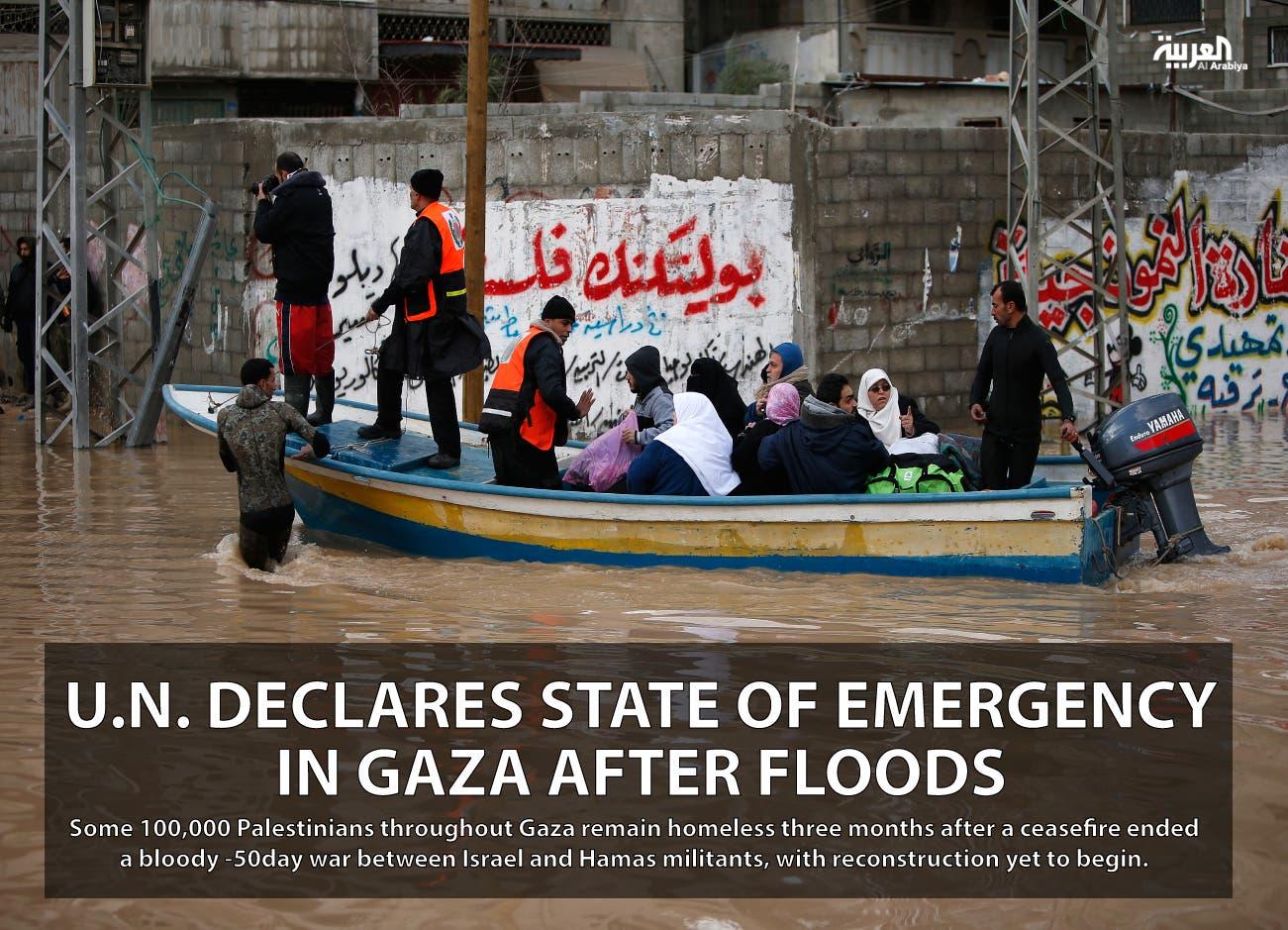 U.N. declares state of emergency in Gaza after floods