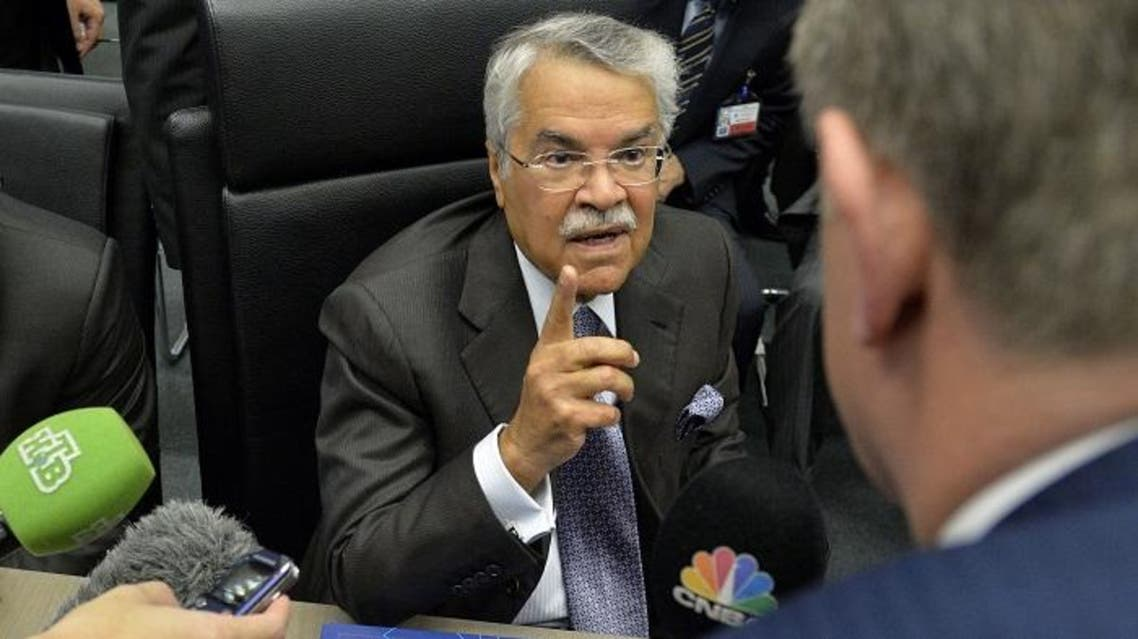 audi Oil Minister Ali al-Naimi speaks to journalists ahead of the166th ordinary meeting of the Organization of the Petroleum Exporting Countries, OPEC, at their headquarters in Vienna, Austria on Nov. 27, 2014. (AFP)
