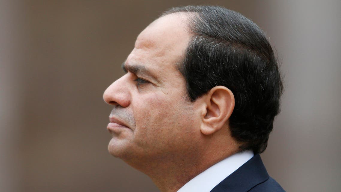 Egyptian President Abdel Fattah al-Sisi attends a military ceremony in the courtyard of the Invalides in Paris, November 26, 2014. (Reuters)