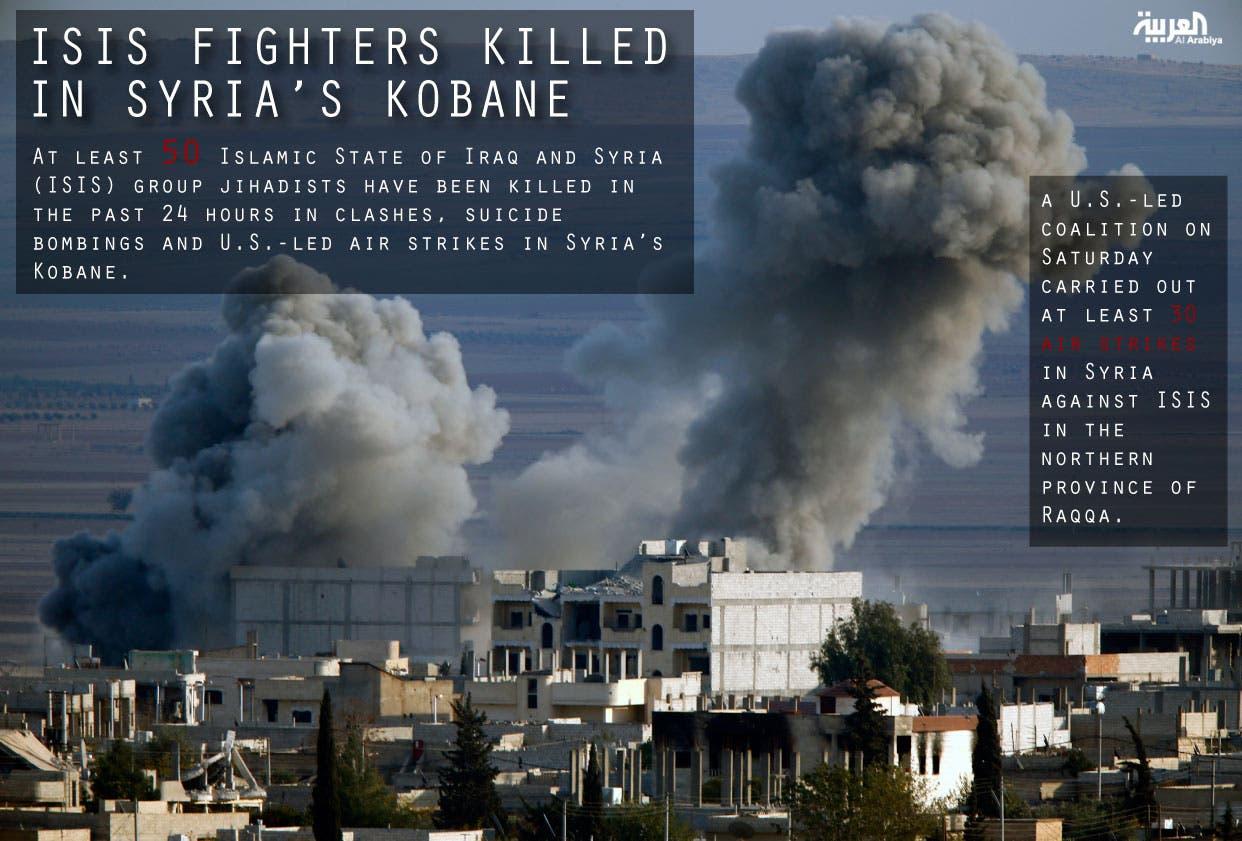 ISIS fighters killed in Syria's Kobane