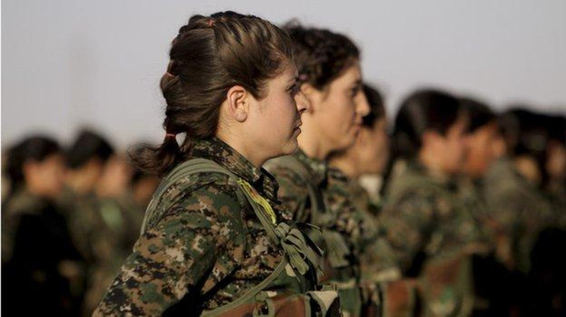 Kurdish female fighters (reuters)