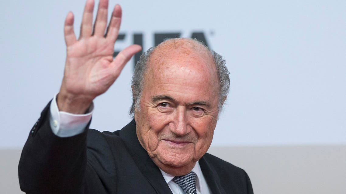 FIFA President Joseph Blatter arrives for a movie premiere at the Sony Center in Berlin November 10, 2014.  (Reuters)