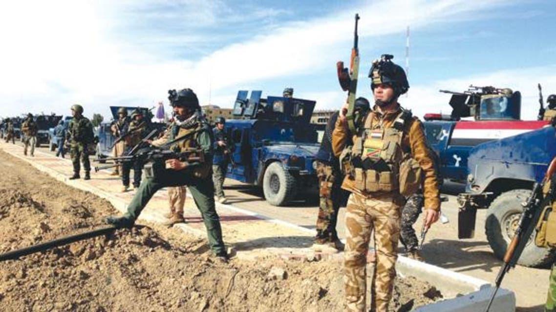 قوات عسكرية عراقية في حالة تأهب الجيش العراقي