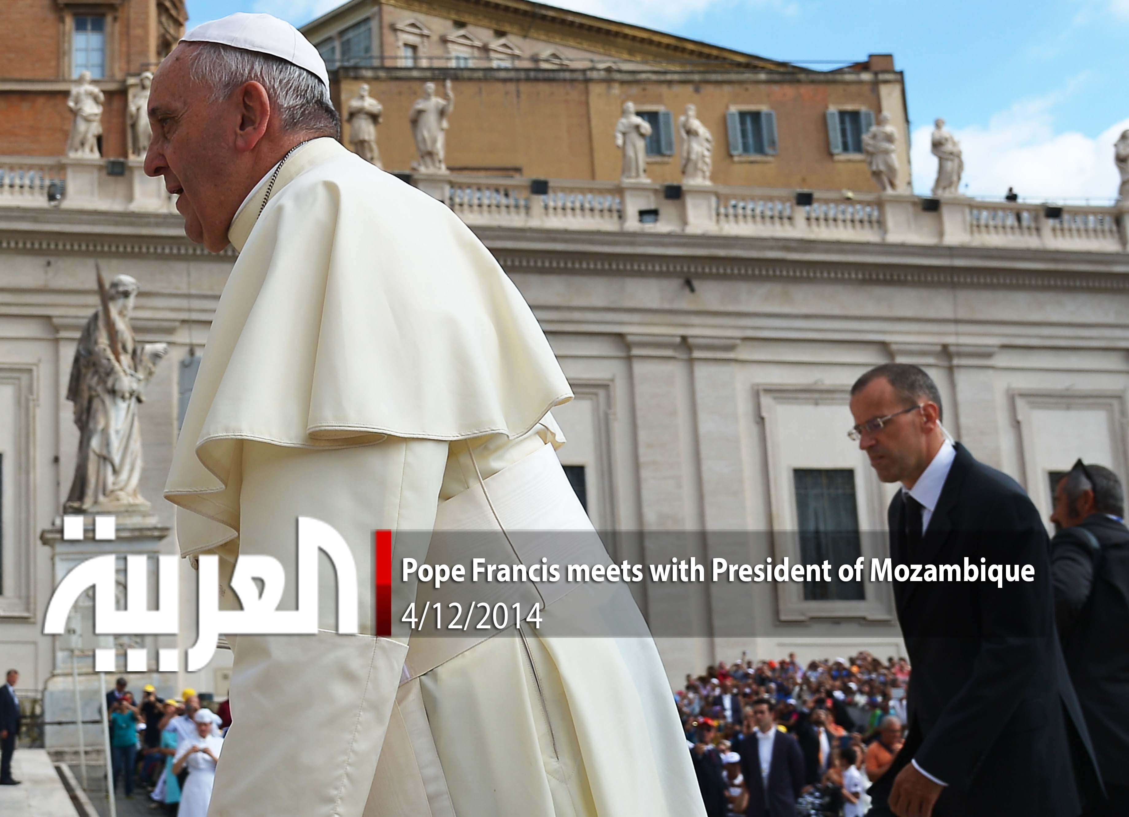 Pope Francis meets with President of Mozambique