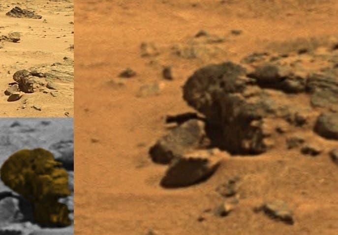 الصخرة الشبيهة بالوجه الرئاسي على سطح الكوكب الأحمر منذ ملايين السنين