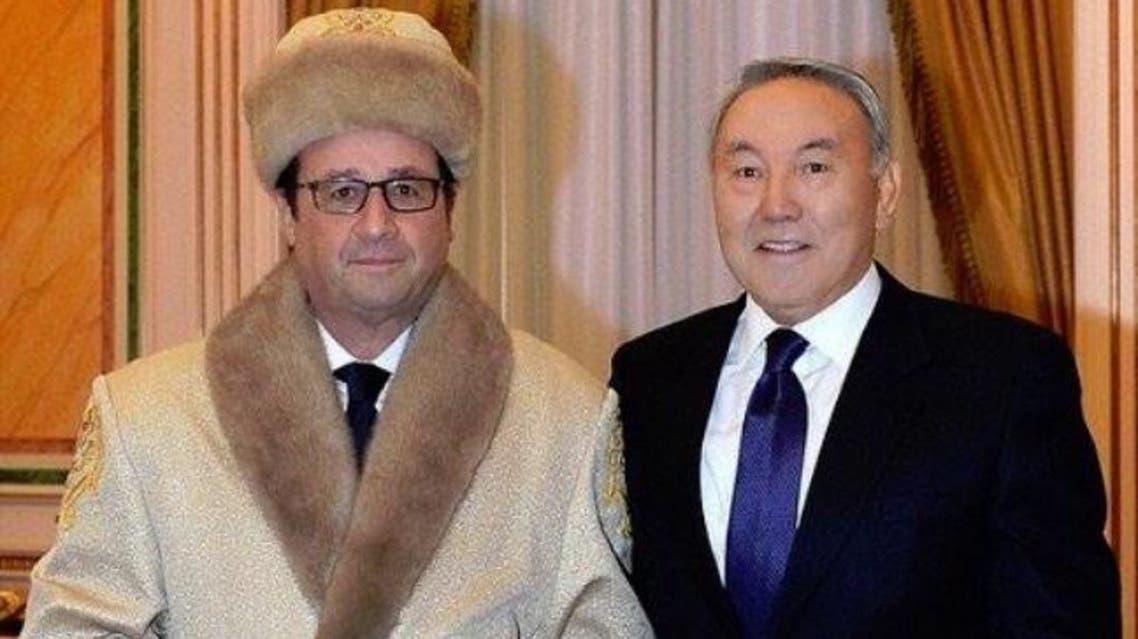 صورة هولاند في كازاخستان تثير سخرية الفرنسيين