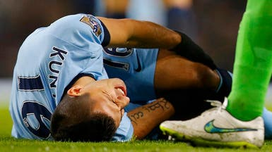 مانشستر سيتي يفقد جهود أغويرو 6 أسابيع
