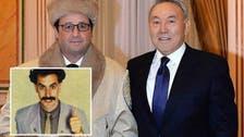 Hollande teased online for 'looking like Borat'