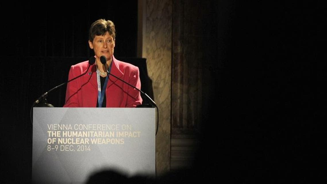 AFP  The UN High Representative for Disarmament Affairs Angela Kane speaks at the International conference on the humanitarian impact of nuclear weapons, on December 8, 2014 in Vienna.