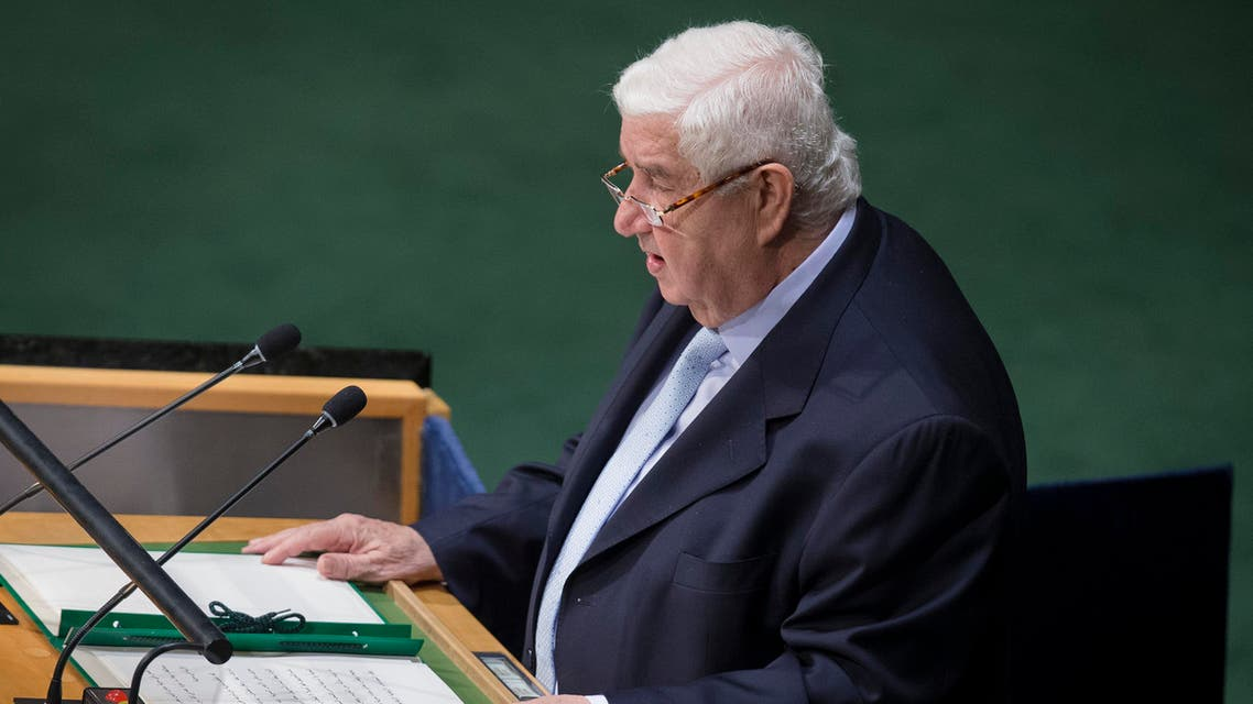 Syria's Foreign Minister Walid Moallem said Iran is supporting a political solution in Syria. (File photo courtesy: AP)
