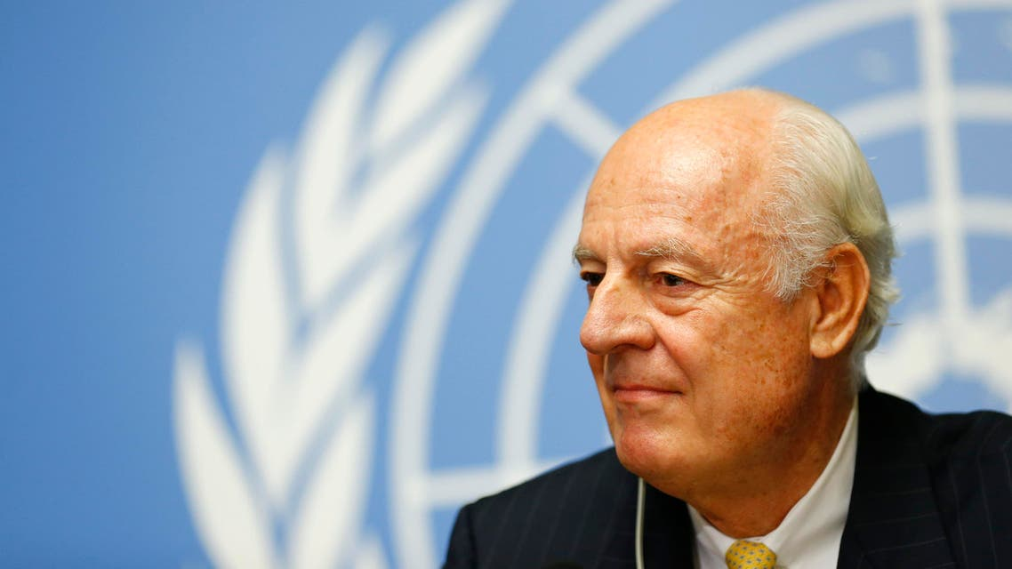United Nations Special Envoy for Syria, Staffan de Mistura addresses his first news conference at the United Nations European headquarters in Geneva October 10, 2014. (Reuters)