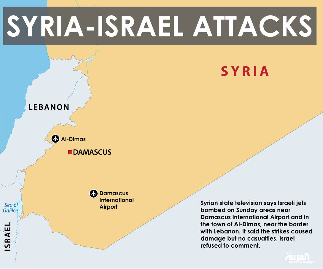Infographic: Syria-Israel attacks
