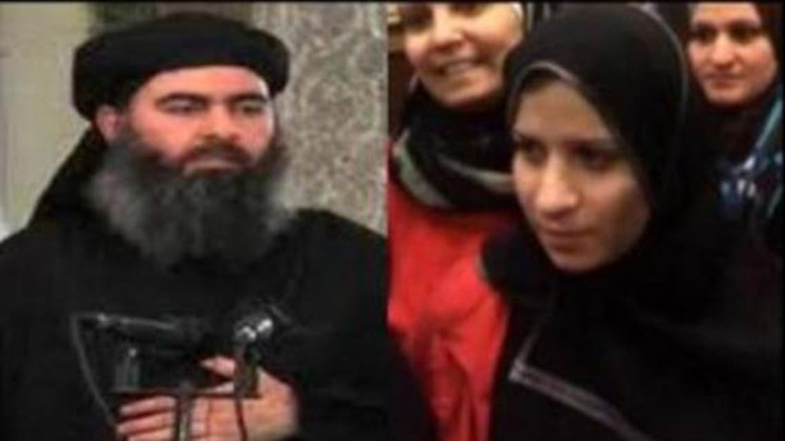 Saja Hamid al-Dulaimi (R), the woman identified in the image, is believed to be the currently detained wife of Baghdadi. (File photo courtesy: YouTube)