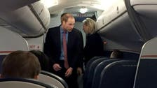 Surprise? Prince William spotted on a U.S. commercial flight