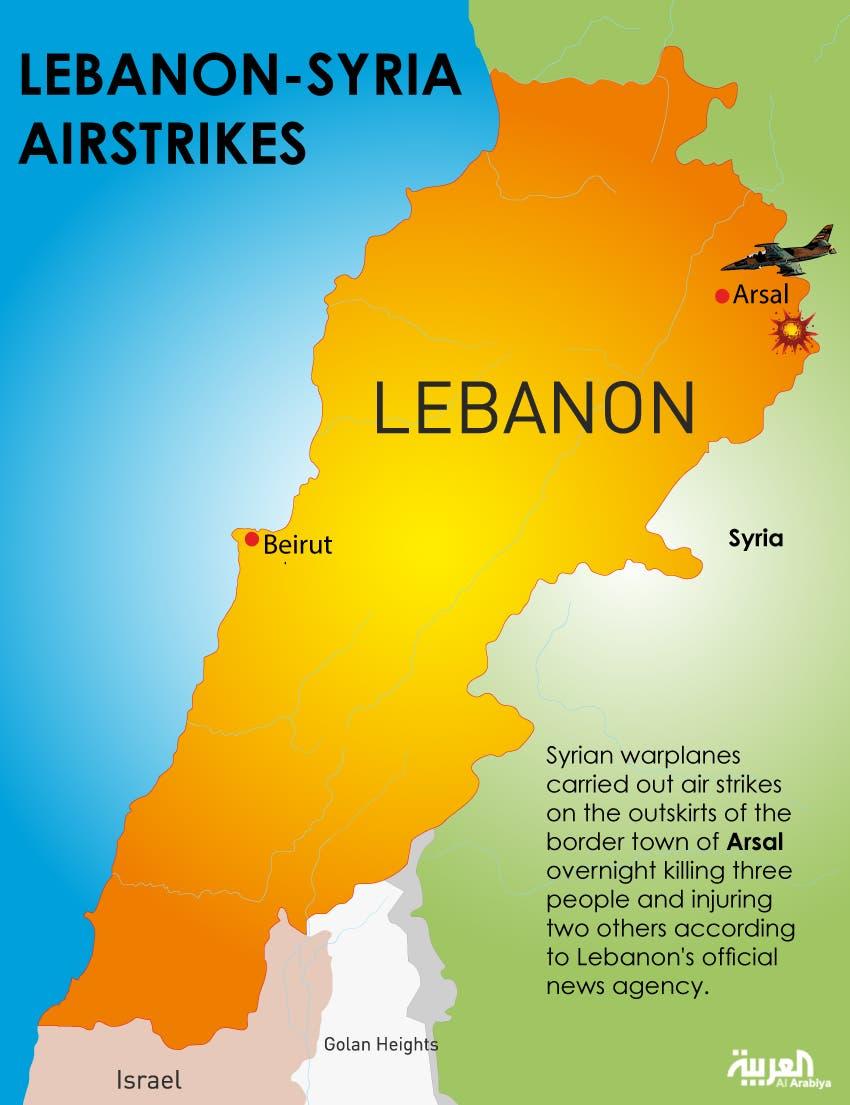 Infographic: Lebanon-Syria airstrikes