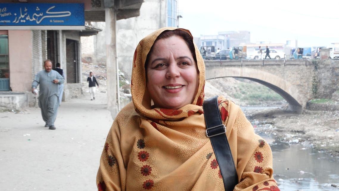 Gul-e-Khandana, 44, a school teacher in Pakistan's northwestern region, has become an icon of education. (Al Arabiya)