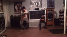 Watch video of talented father-daughter duo dancing in their living room
