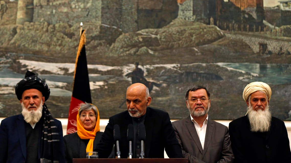 Afghanistan's President Ashraf Ghani (C) speaks to the media during an event in Kabul December 10, 2014. (Reuters)