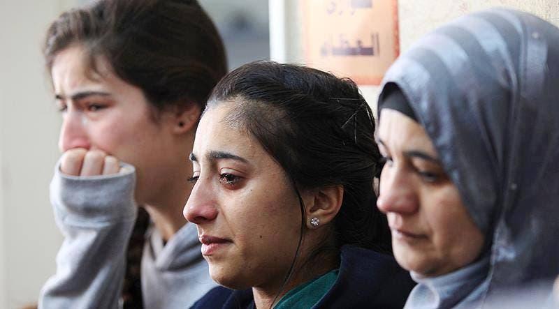 عائلة زياد أبو عين وأبنائه في مستشفى رام الله