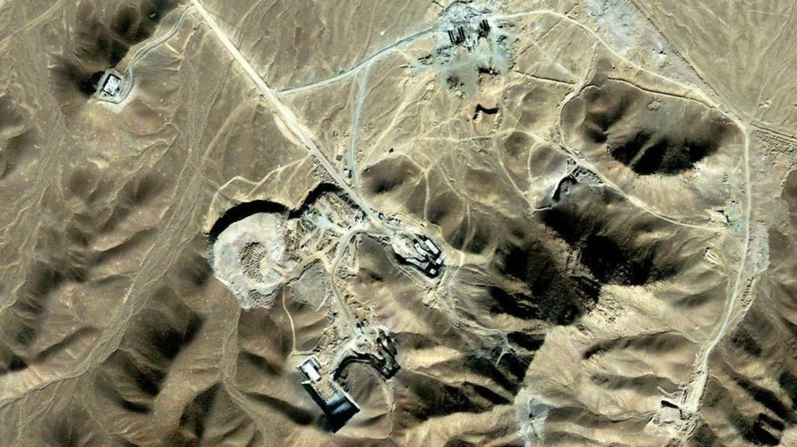 This satellite image made available to AFP in 2009 by Digitalglobe shows Iran's underground nuclear facility afp