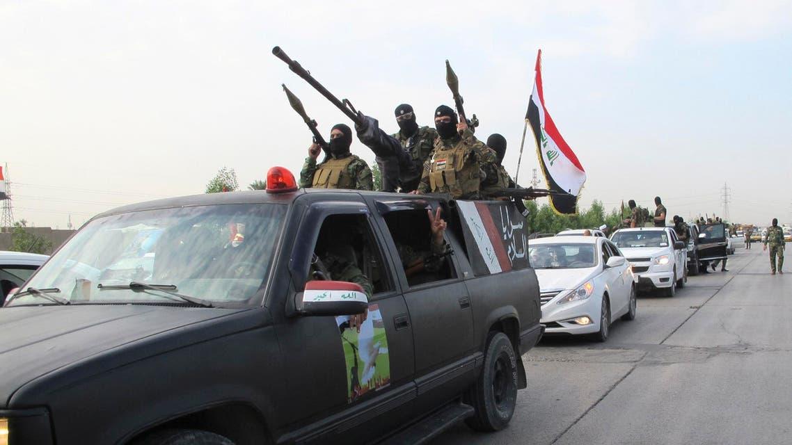 Shiite fighters from Saraya al-Salam loyal to Muqtada al-Sadr Reuters Iraq