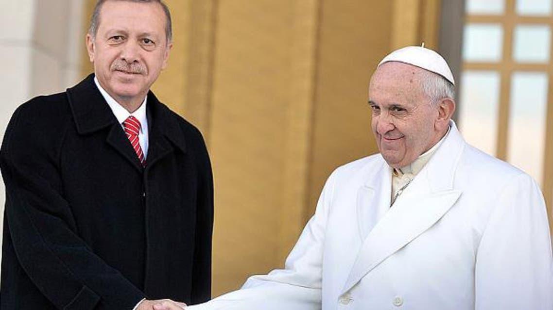 pope erdogan turkey AFP