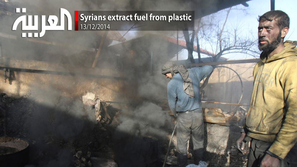 Syrians extract fuel from plastic