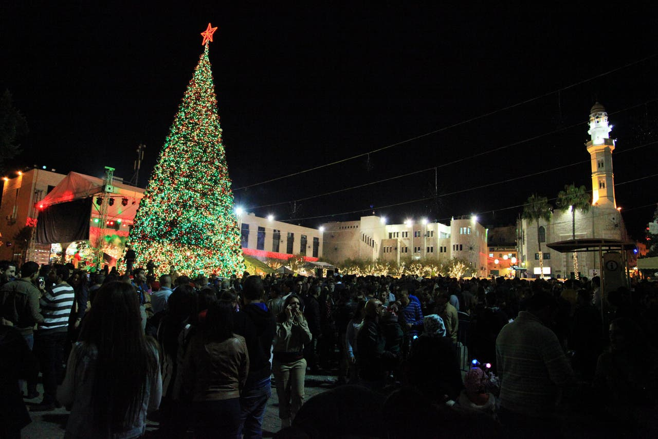شجرة الميلاد في كنيسة المهد