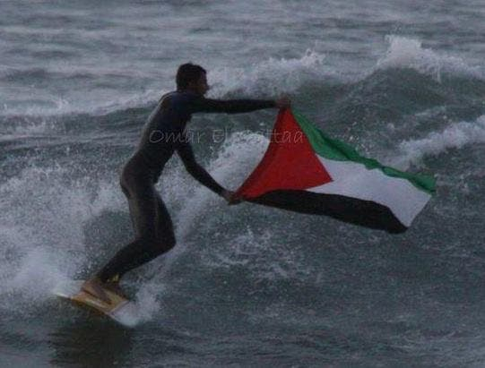 "The Gaza Surf Club describes the sport as a way to ""forget about the hardships of living in Gaza."" But that's not really the case as the two men splash into water cold enough to take their breath away even in wetsuits. Raw or only partially treated sewage now churns into the waves. (Facebook - Gaza Surf Club)"