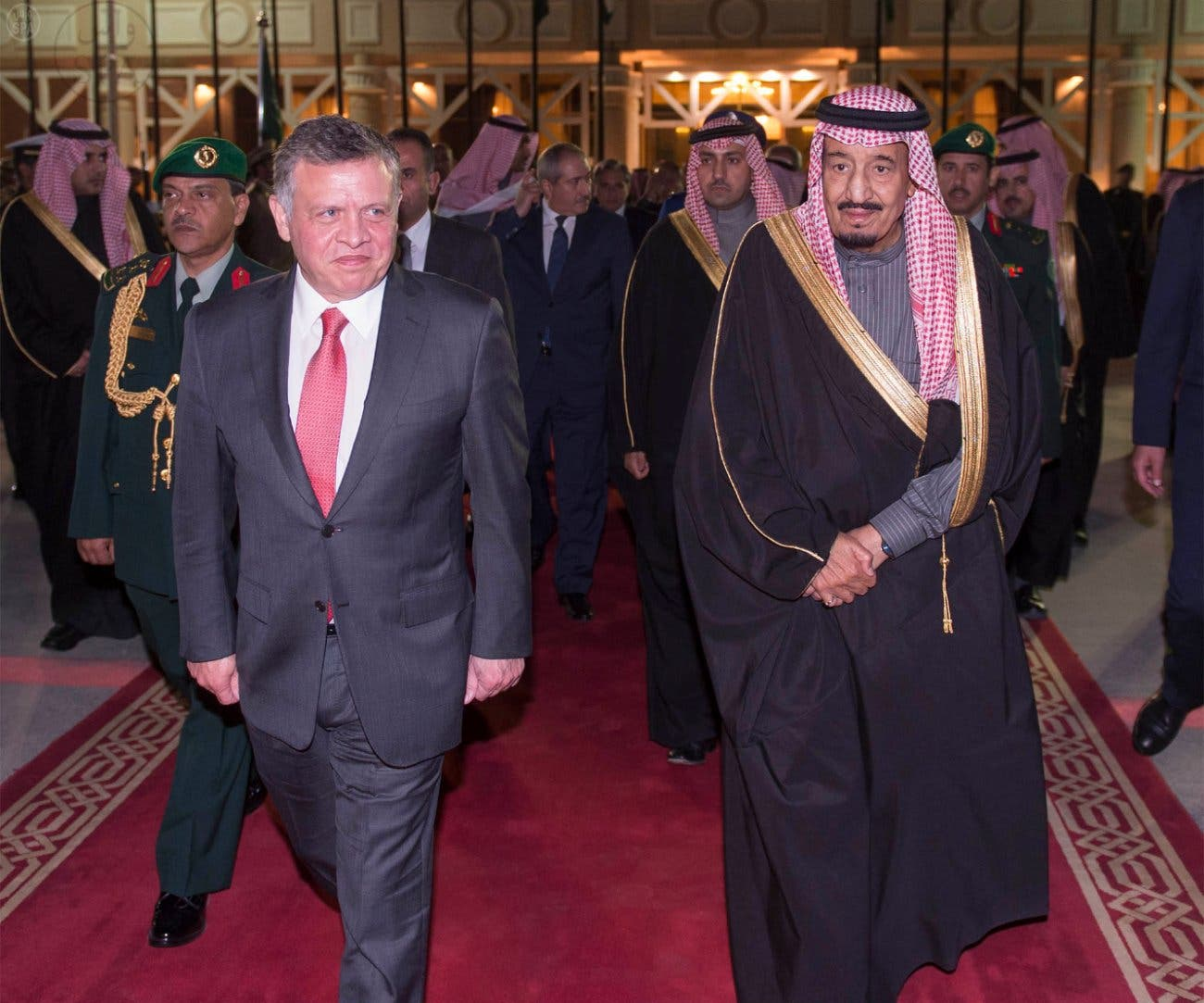 Saudi Crown Prince Salman and Jordanian King Abduallah II SPA