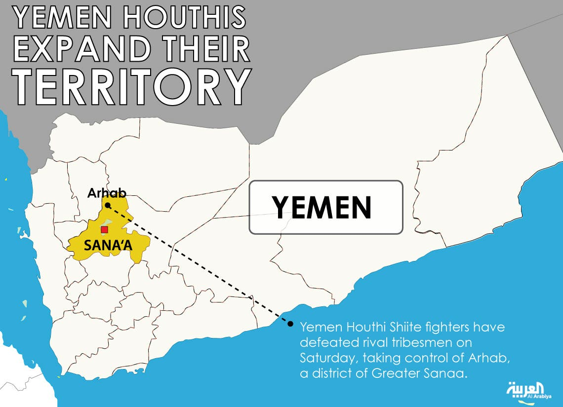 Infographic: Yemen Houthis expand their territory