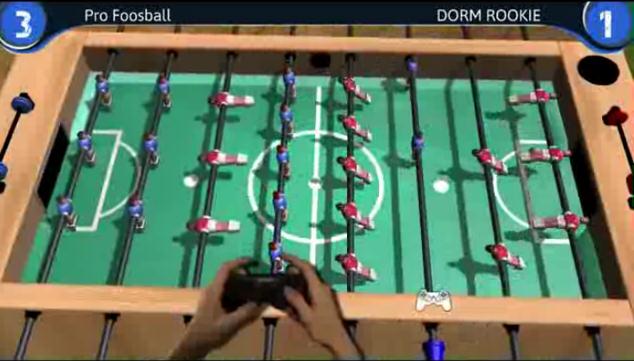 3 -  In 2013, Jordanian game development studio Quirkat launched a table football simulator for the PS3.  (Screen grab)