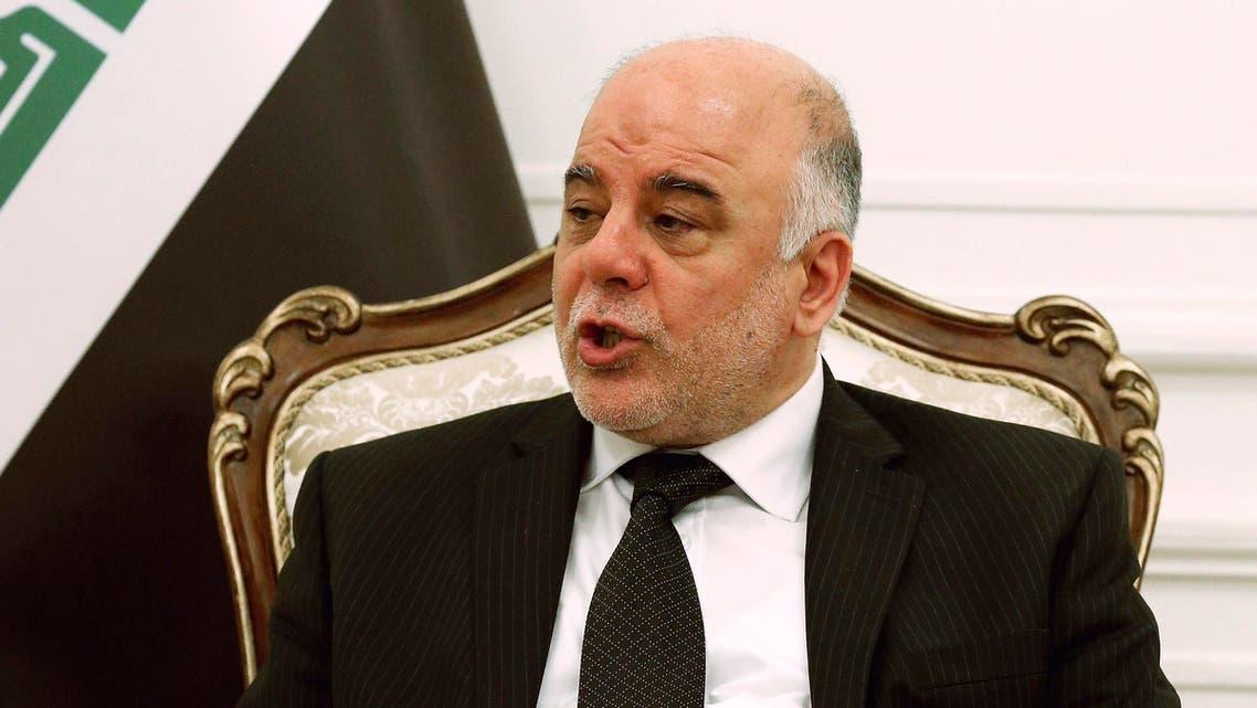 Iraqi Prime Minister Haider al-Abadi speaks during a meeting with U.S. Defense Secretary Chuck Hagel in Baghdad December 9, 2014.  (Reuters)