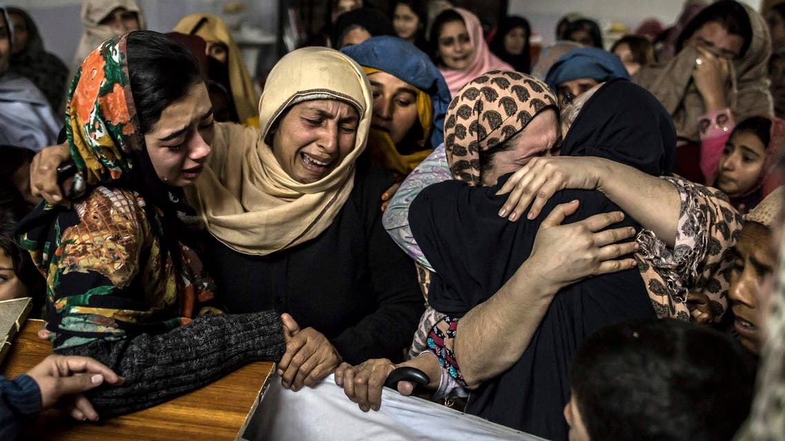 Women mourn their relative Mohammed Ali Khan, 15, a student who was killed during an attack by Taliban gunmen on the Army Public School, at his house in Peshawar December 16, 2014.  (Reuters)