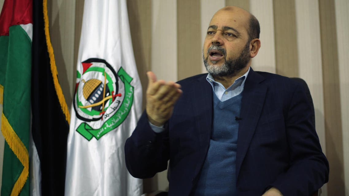 Deputy Hamas chief Moussa Abu Marzouk gestures during an interview with Reuters in Gaza City December 17, 2014. (Reuters)