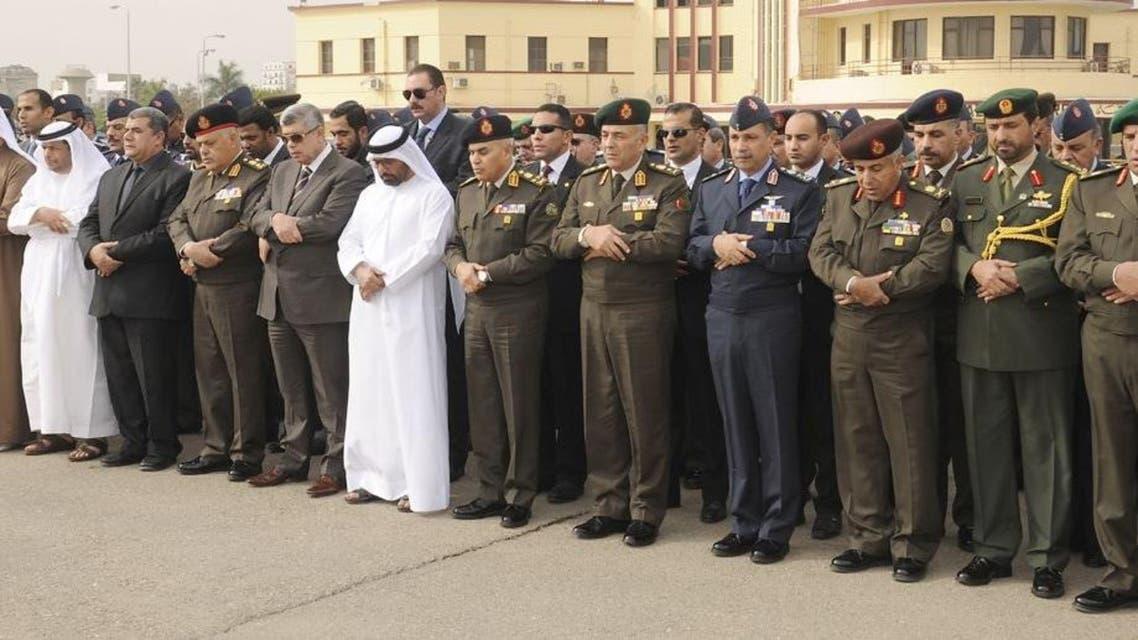 صلاة الجنازة على قتلى طائرة التدريب المصرية الإماراتية