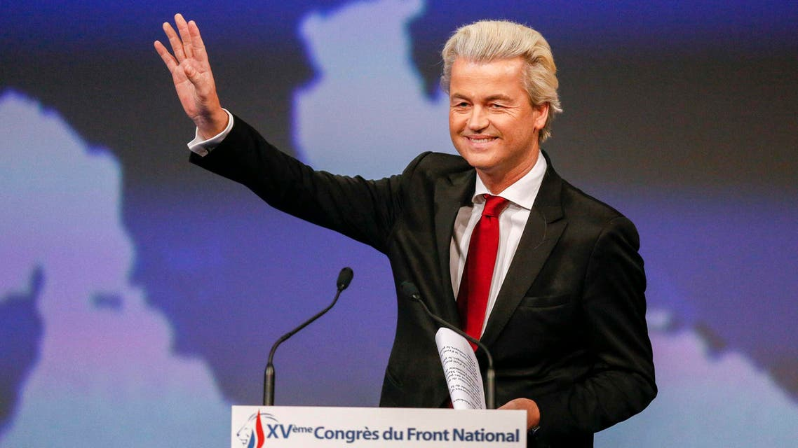 Netherland's Geert Wilders, president of PVV (Party for Freedom) delivers a speech during the France's far-right National Front congress in Lyon November 29, 2014. REUTERS