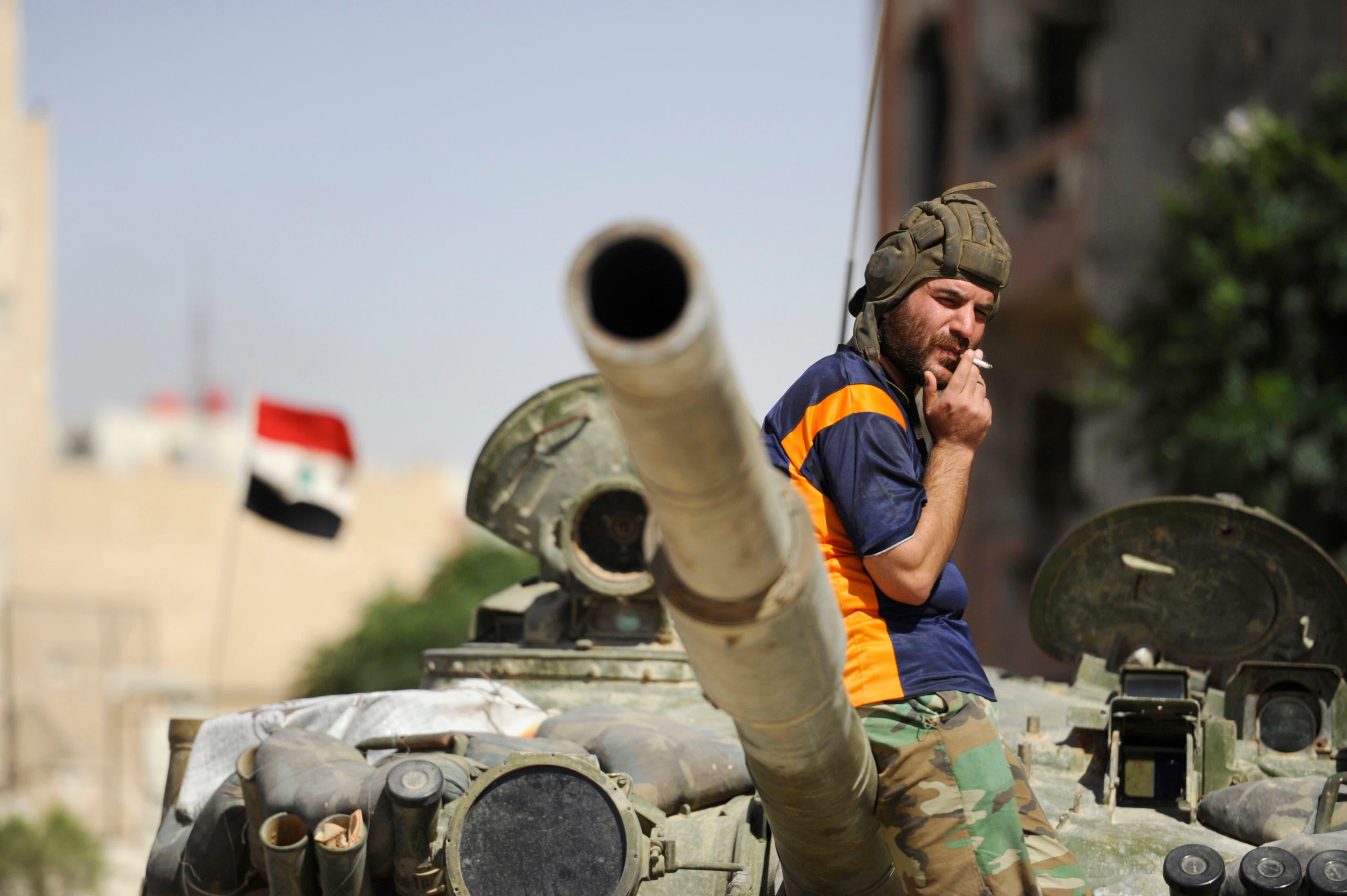Syrian army tank Reuters Syria