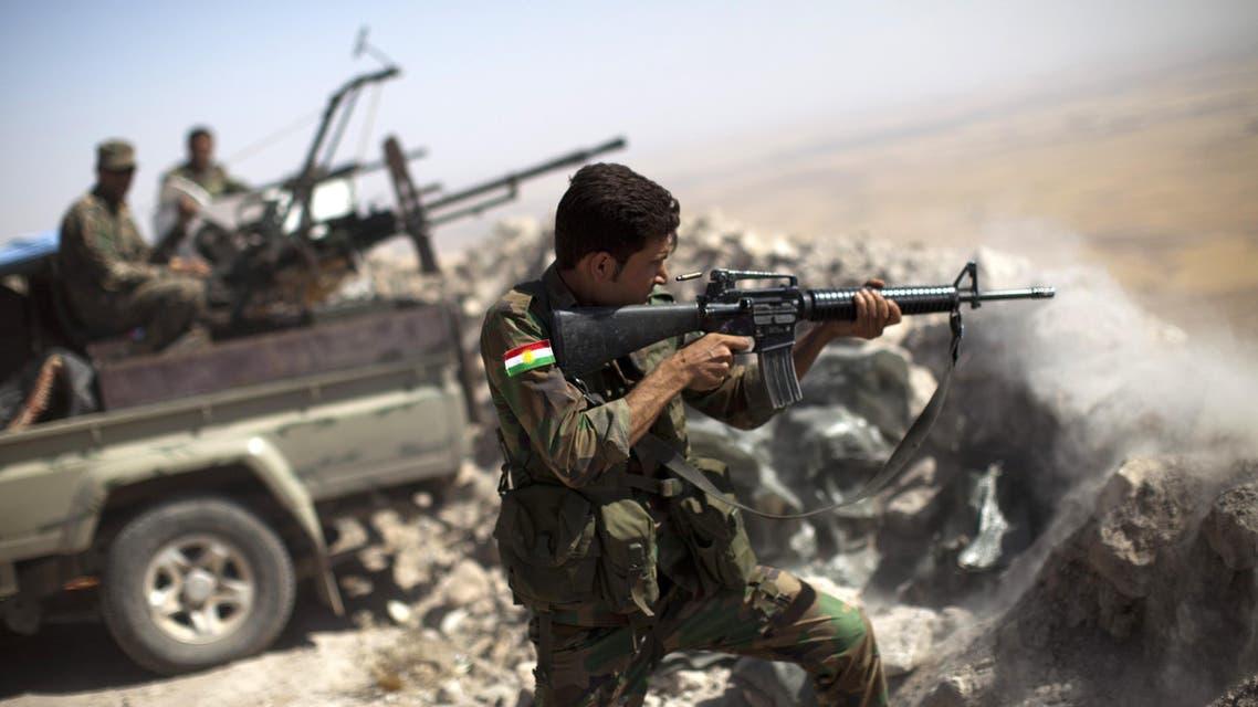 Iraqi Kurdish Peshmerga fighter AFP