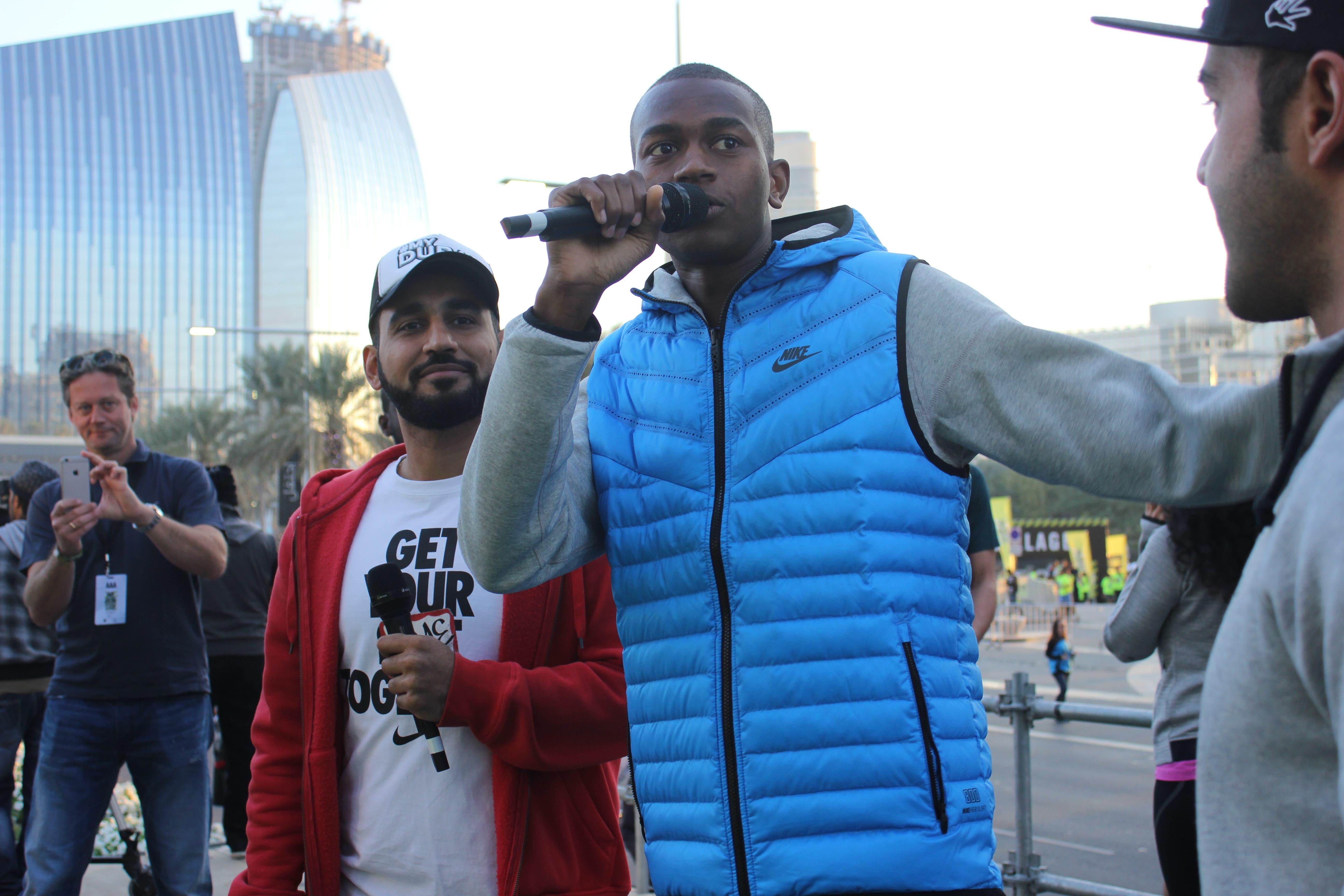 Mutaz Essa Barshim nike run photo: Al Arabiya News/ Salma El Shahed