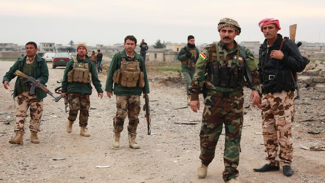 Members of the Kurdish security forces take part in a patrol in Zumar, Nineveh province December 18, 2014. (Reuters)