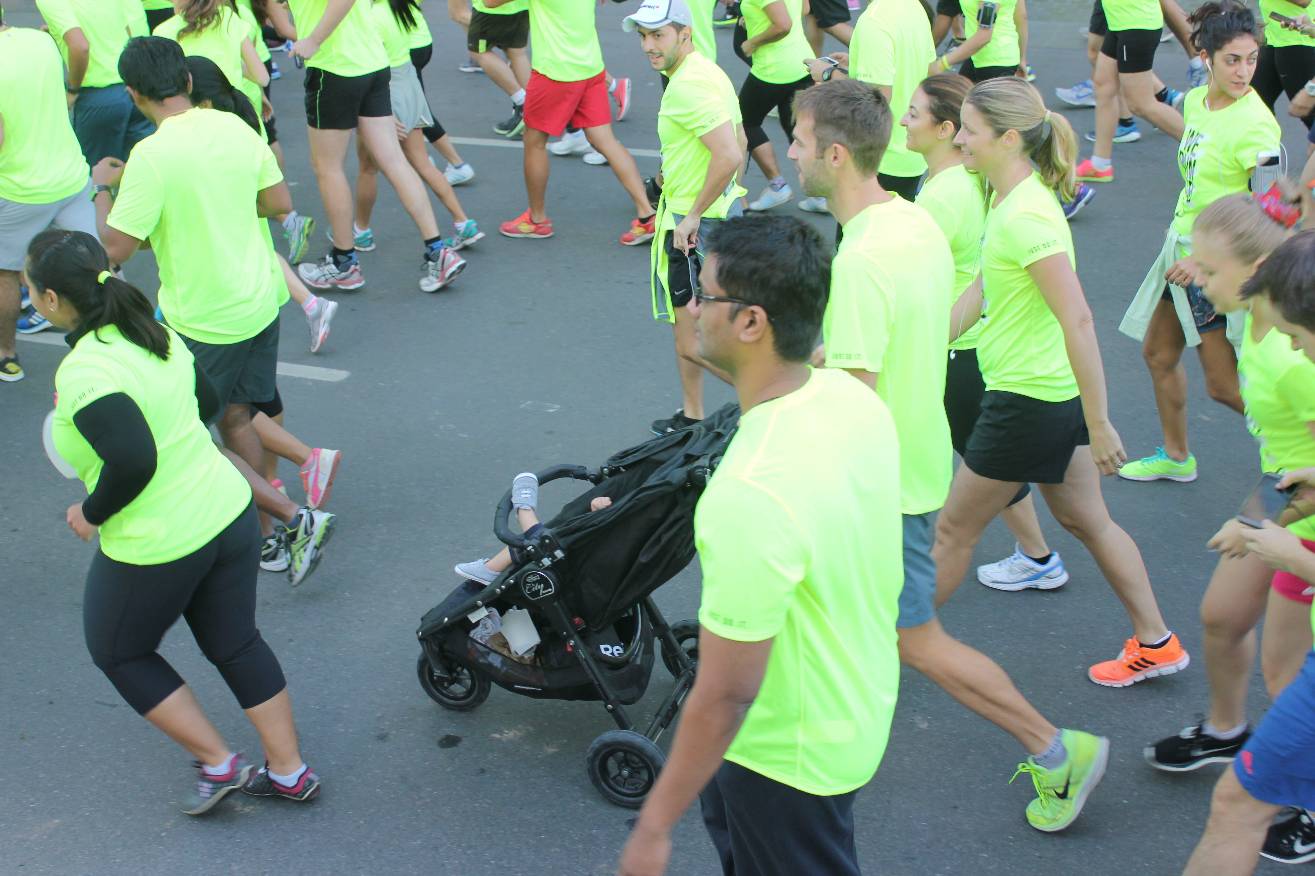 nike run baby stroller photo: al arabiya news/salma el shahed