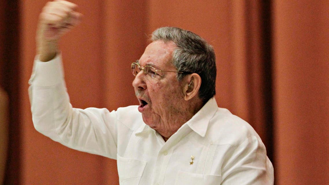 Cuba's President Raul Castro gestures after delivering a speech to members of the National Assembly in Havana, December 20, 2014. (Reuters)