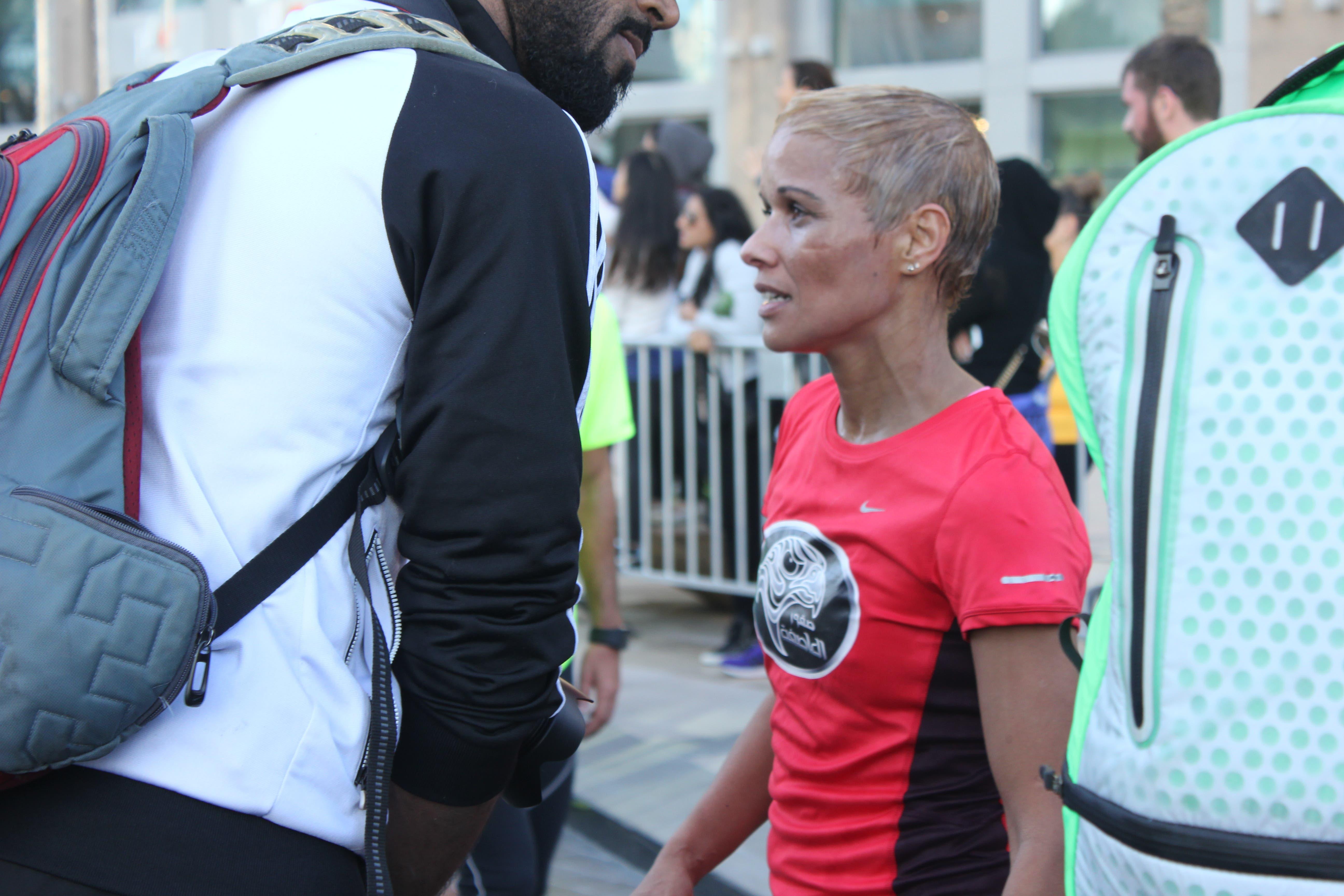 Latifa al Saroukh nike run photo: Al Arabiya News/ Salma El Shahed