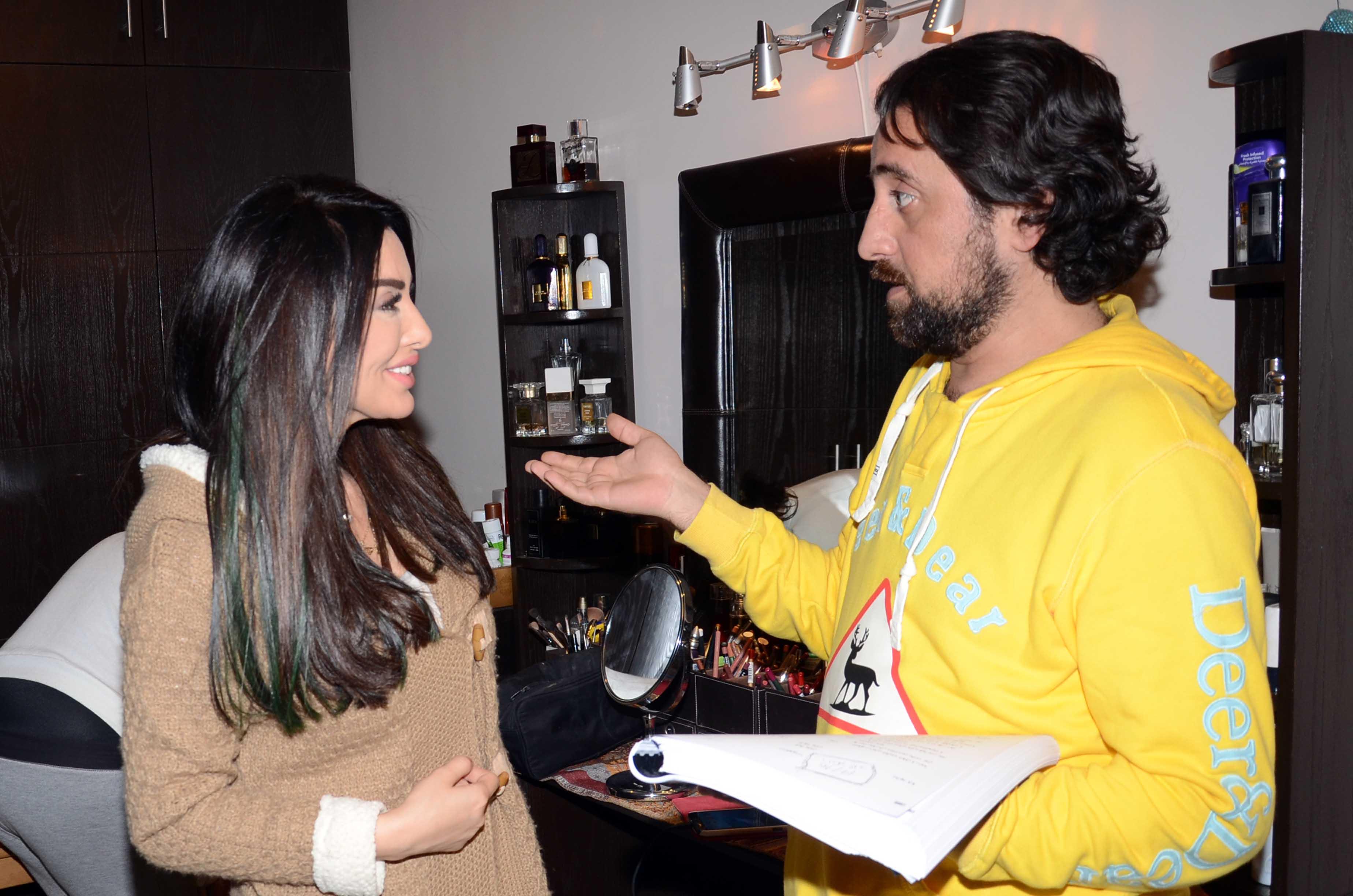 المخرج منير الزعبي مع ميساء المغربي