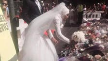 Muslim bride stirs applause at Sydney memorial