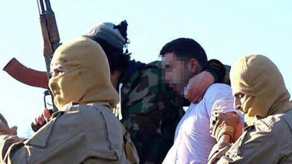 A still image released by the ISIS group's branch in Raqa on jihadist websites on Dec. 24, 2014 purportedly shows a Jordanian pilot captured by IS group's fighters. (AFP)